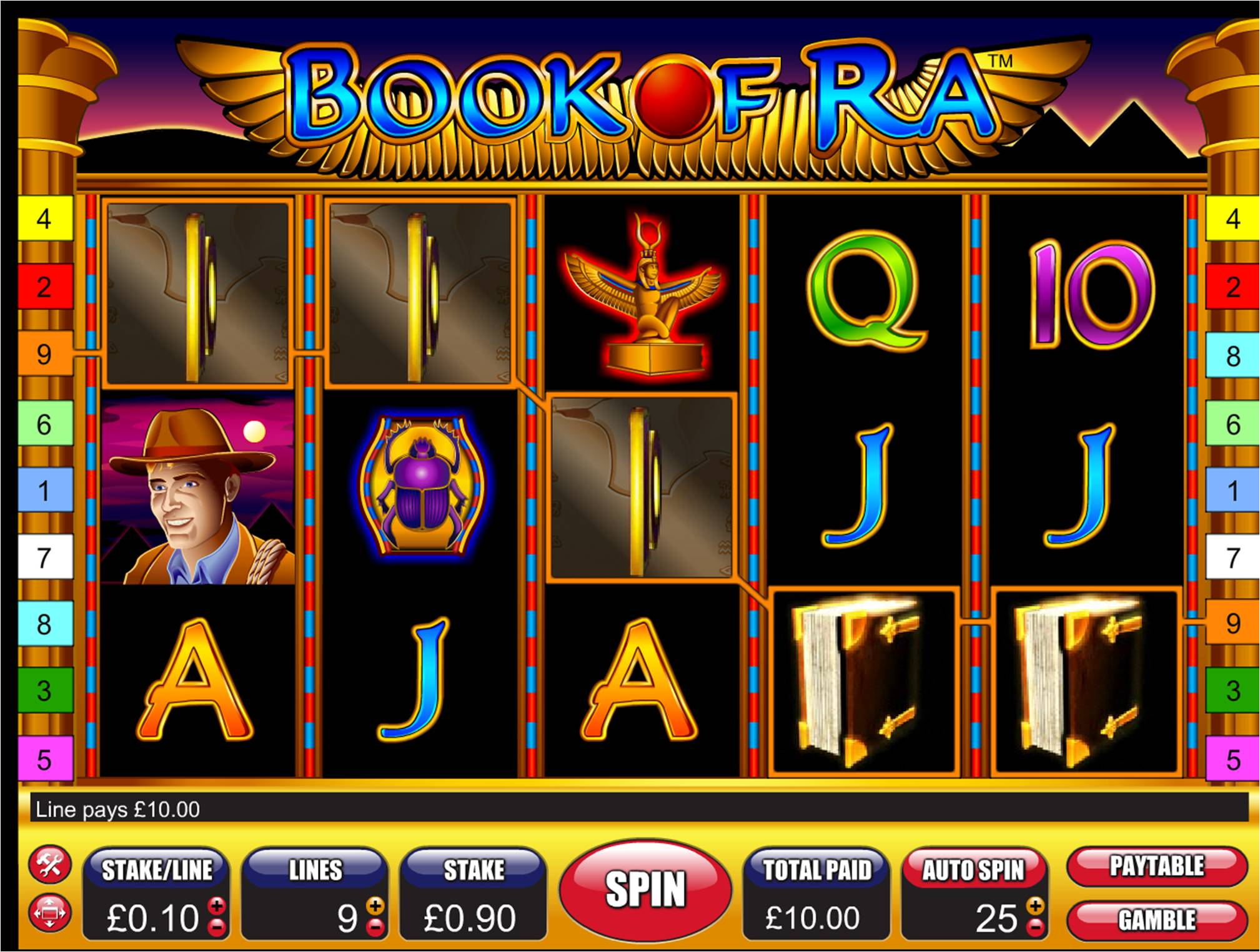 book of ra slot in game